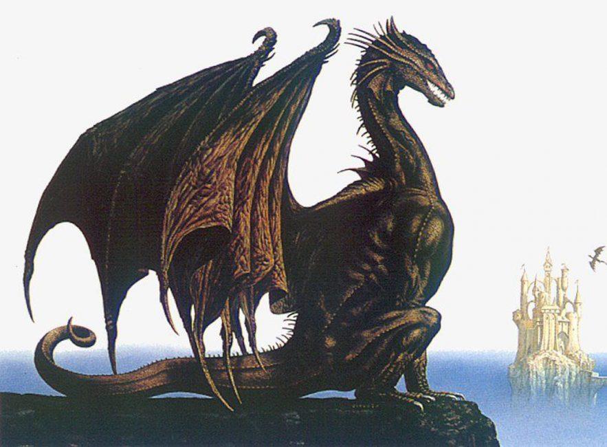 У европейского чудовища крылья, похожие на те, что у летучей мыши, длинная шея