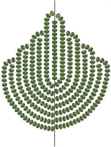 Схема для основного листка для розы