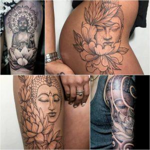 Тату Лотоса и индийских божеств