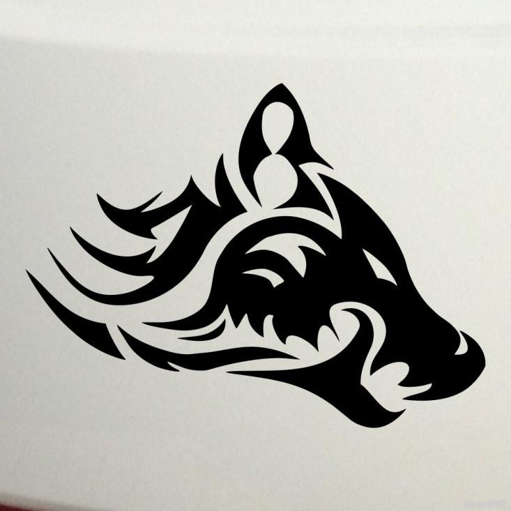 Кельтская татуировка – изображение волка