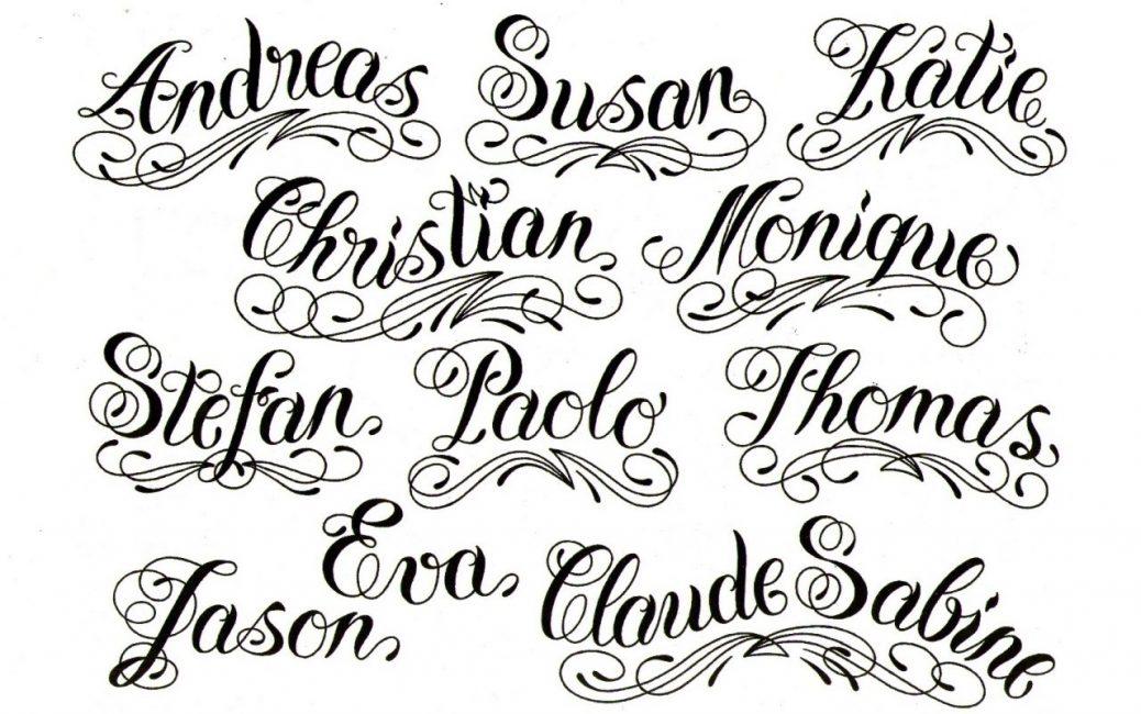 Шрифт «Чикано» для татуировок