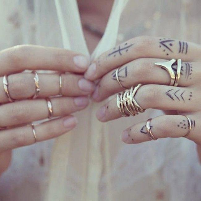 Узоры на пальцах