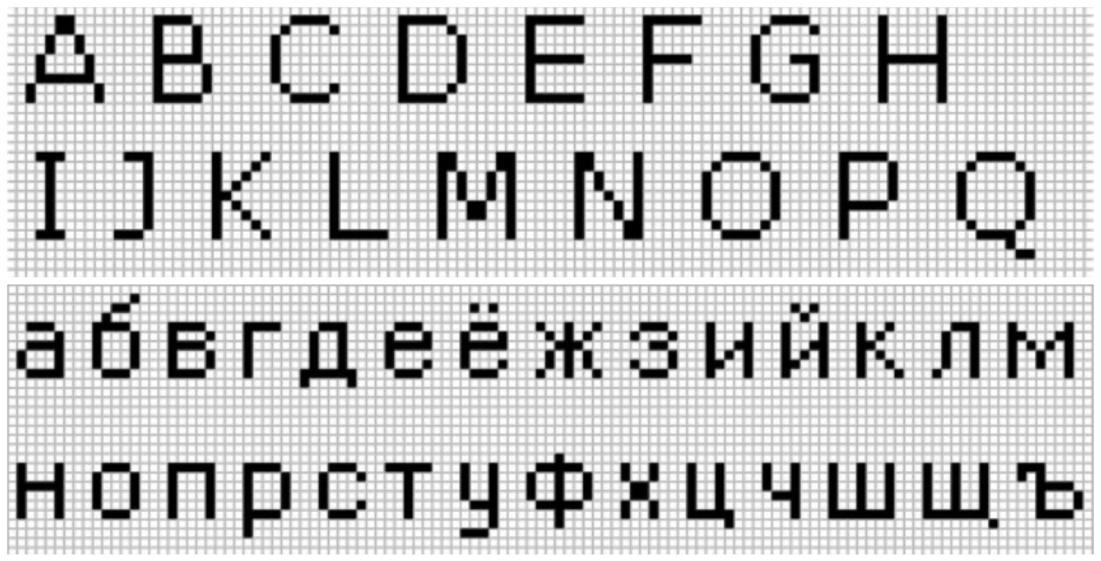 Схемное обозначение букв