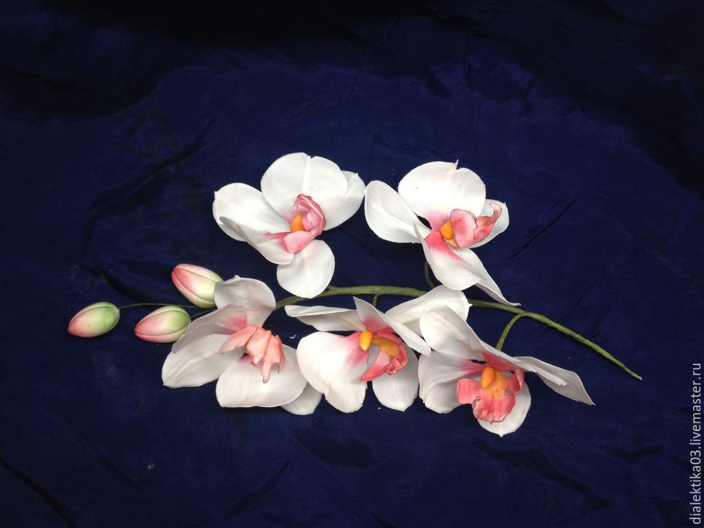 Орхидеи из мастики