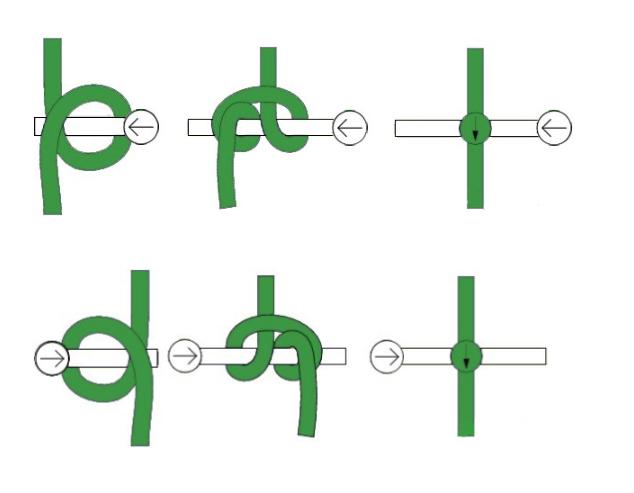 Схема плетения букв в фенечке