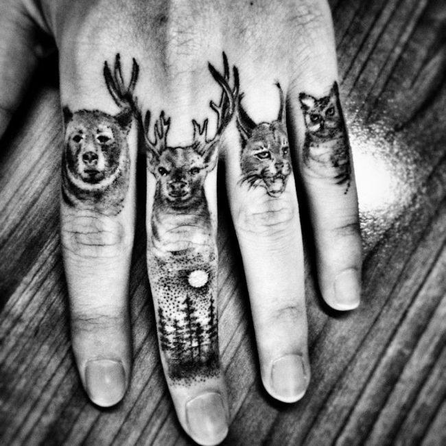 Тату с животными