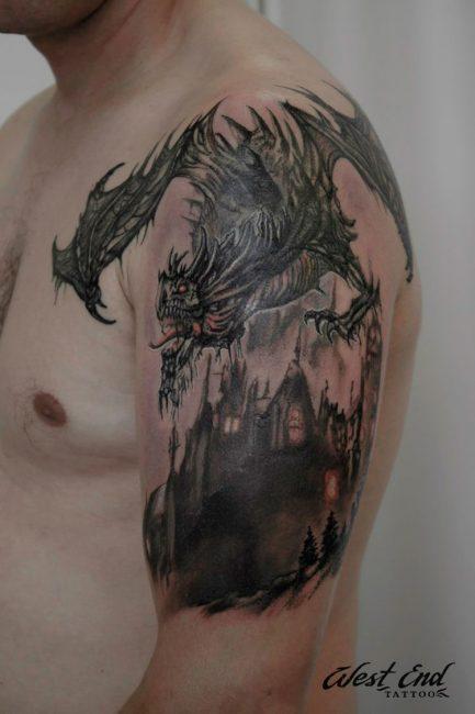Тату с драконом