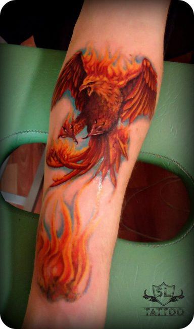 Феникс с огнем