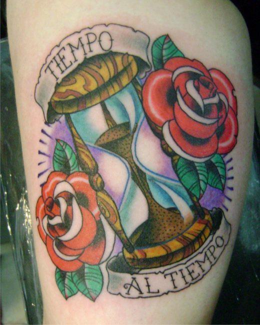 Женщинам с татуировками в виде часов присуще такие черты характеры, как чистоплотность, терпеливость, целеустремленность и честность