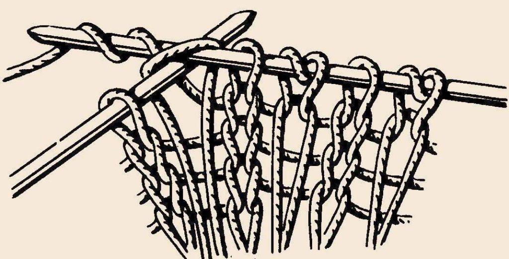 Наглядная вязка вытянутых петель