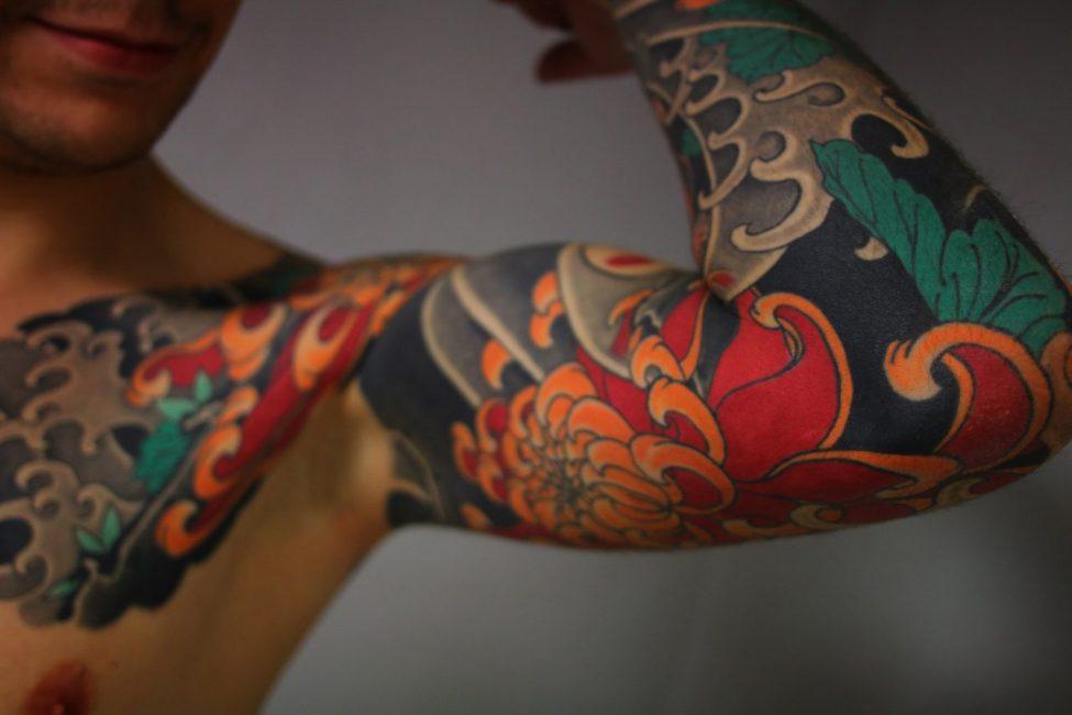 Цветной тату-рукав