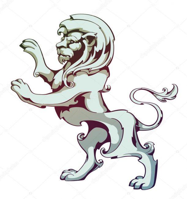 Лев на задних лапах