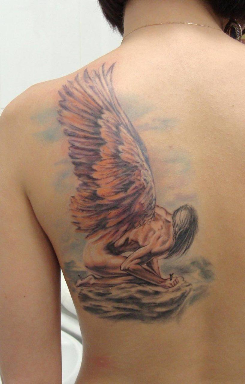 позволит гладить фото тату ангела на лопатке мужские вскоре повенчается ней
