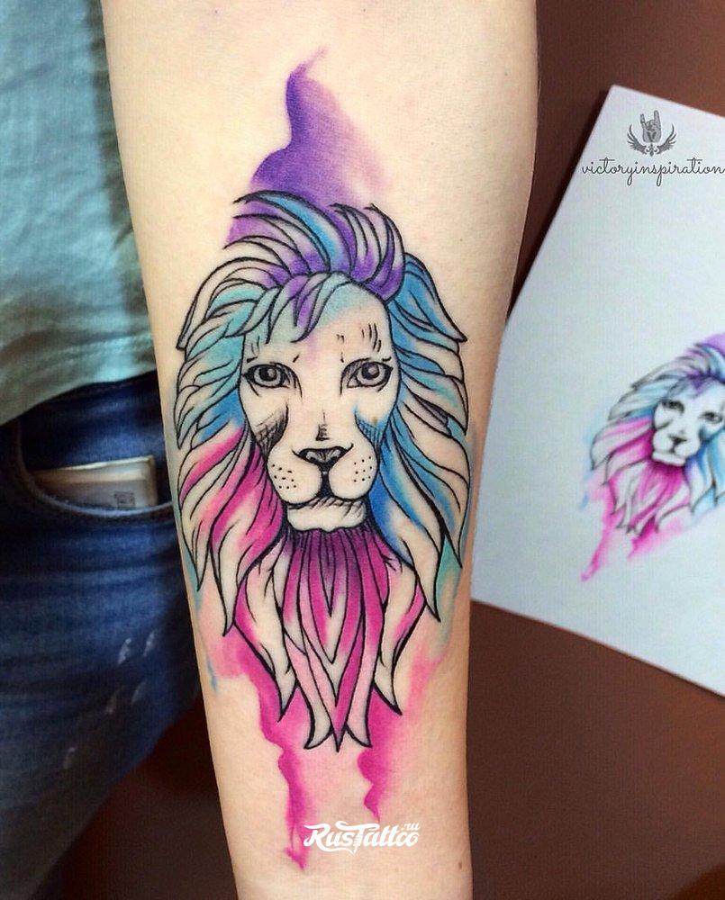 Тату для льва