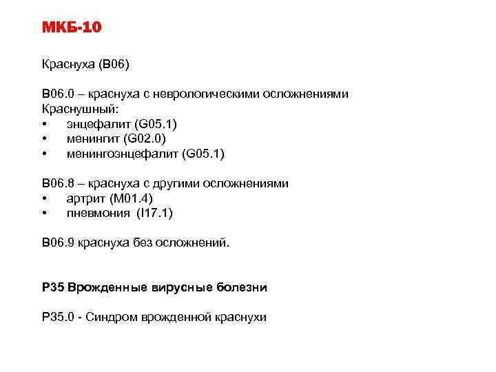 Классификация по МКБ-10