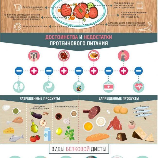 Достоинства и недостатки белковой диеты