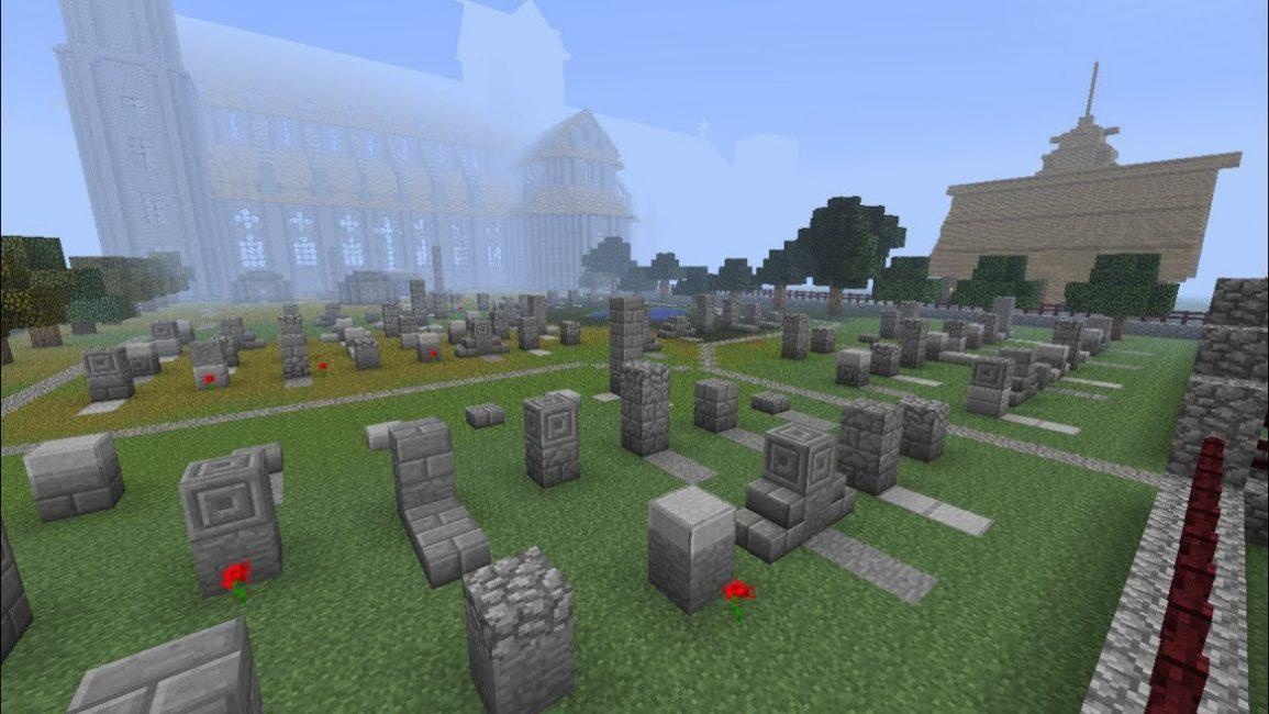 Кладбище в майнкрафте