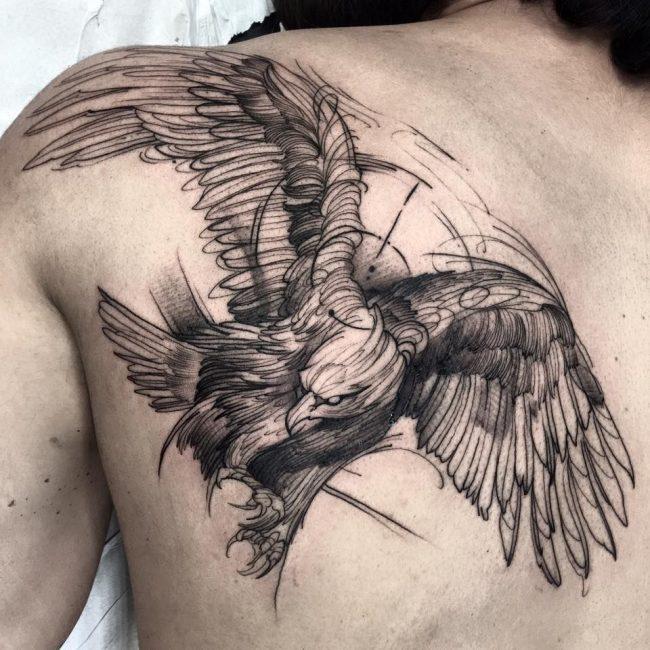 Орел в стиле геометрия