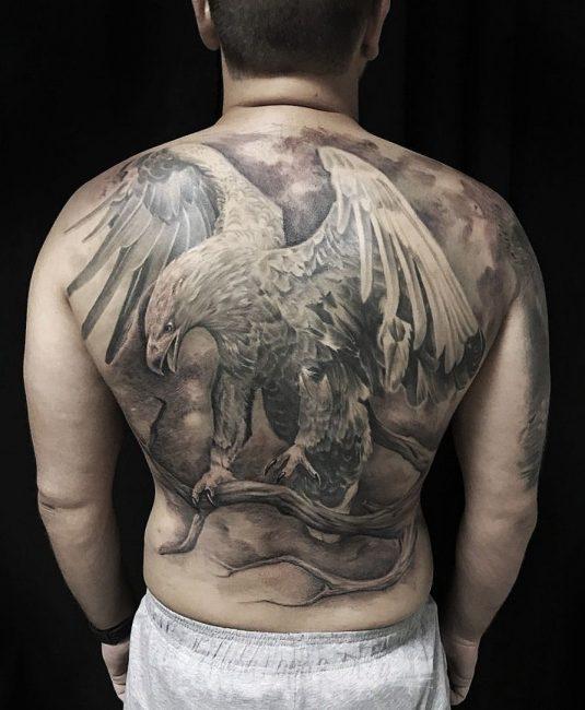 Орел на всю спину