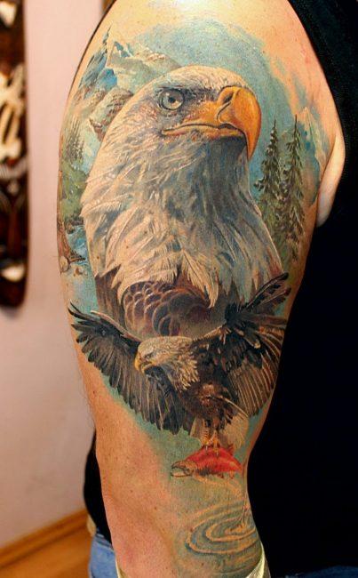 Орел в стиле реализм