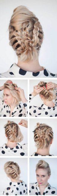 Кок с косами