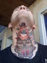 Красивые тату на шее для девушек, мужские: сзади, значение, сбоку, маленькие, штрих код, надписи с переводом, дракон. Эскизы + 120 ФОТО