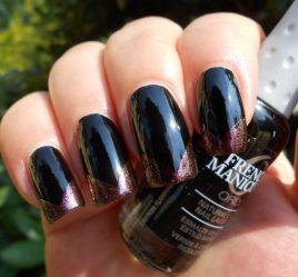 Стильный черный маникюр в 2818 году: матовый, с белым, розовым, на коротких ногтях + 140 ФОТО