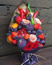 Как сделать букет пошагово? Букеты из цветов, конфет, фруктов + 100 ФОТО
