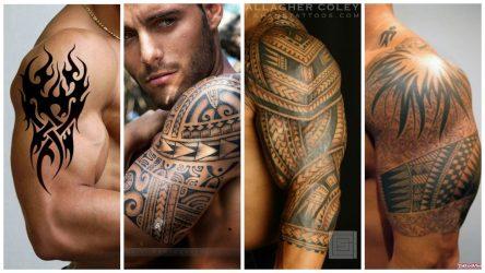 Самые красивые тату на плечо для мужчин: со смыслом, кельтские узоры, дракон, волк, тигр, медведь, ангел, лев, трайбл, доспехи. Эскизы + 160 ФОТО