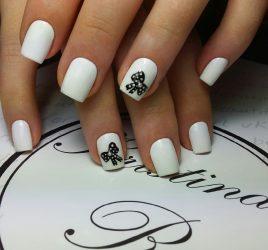 Модные тенденции дизайна белого маникюра летом 2018 года: френч, черно-белый, на коротких ногтях + 125 ФОТО