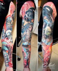 Красивые эскизы и значения тату рукава для мужчин и женщин: стили, черно-белый, цветы, чикано, полинезия, до локтя + 115 ФОТО