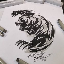 Значение тату с медведем: для мужчин, женщин, на руке, плече, с оскалом, в лесу, медвежья лапа, голова, славянские. Эскизы + 125 ФОТО