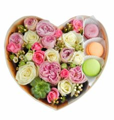 Красивые композиции из живых цветов в коробке своими руками + 110 ФОТО