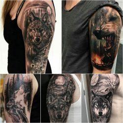 Лучшие эскизы для женских и мужских тату на предплечье: черно-белые, цветные, волк, лев, роза, узоры, медведь. Значения + 115 ФОТО