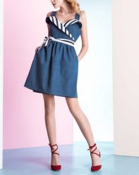 Летние джинсовые платья: из тонкого денима, платье-рубашка. С чем носить джинсовые платья + 130 ФОТО