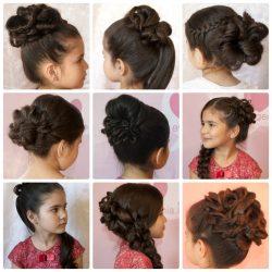 Прически на детские волосы для девочек: на длинные, средние, короткие волосы, в детский сад, на выпускной + 170 ФОТО