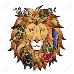 Значение татуировки лев: на левой руке, плече, ноге, груди, пальце, спине, для мужчин, девушек, с короной, знак зодиака. Эскизы + 125 ФОТО