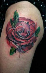 Тату с розами: черная, белая, красная, маленькая, для девушки, мужчины, Роза Ветров, на руке, кисти, предплечье, бедре, шее. Эскизы и значение + 150 ФОТО