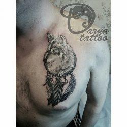 Значение и эскизы тату ловца снов: для девушек, женщин, мужчин, на руке, ноге, спине, бедре, шее, запястье, с волком, перьями, цветное + 115 ФОТО