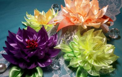 Цветы из лент своими руками: как сделать цветы из атласа? Мастер-классы + 100 ФОТО